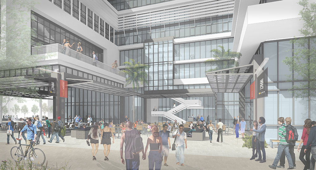 Rendering of downtown UCF building