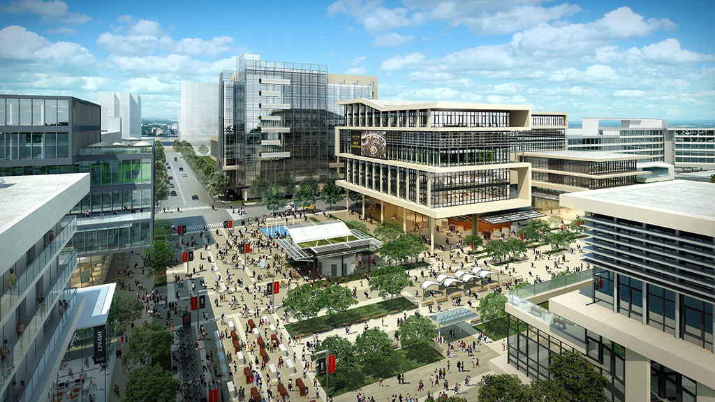 Rendering of downtown UCF campus