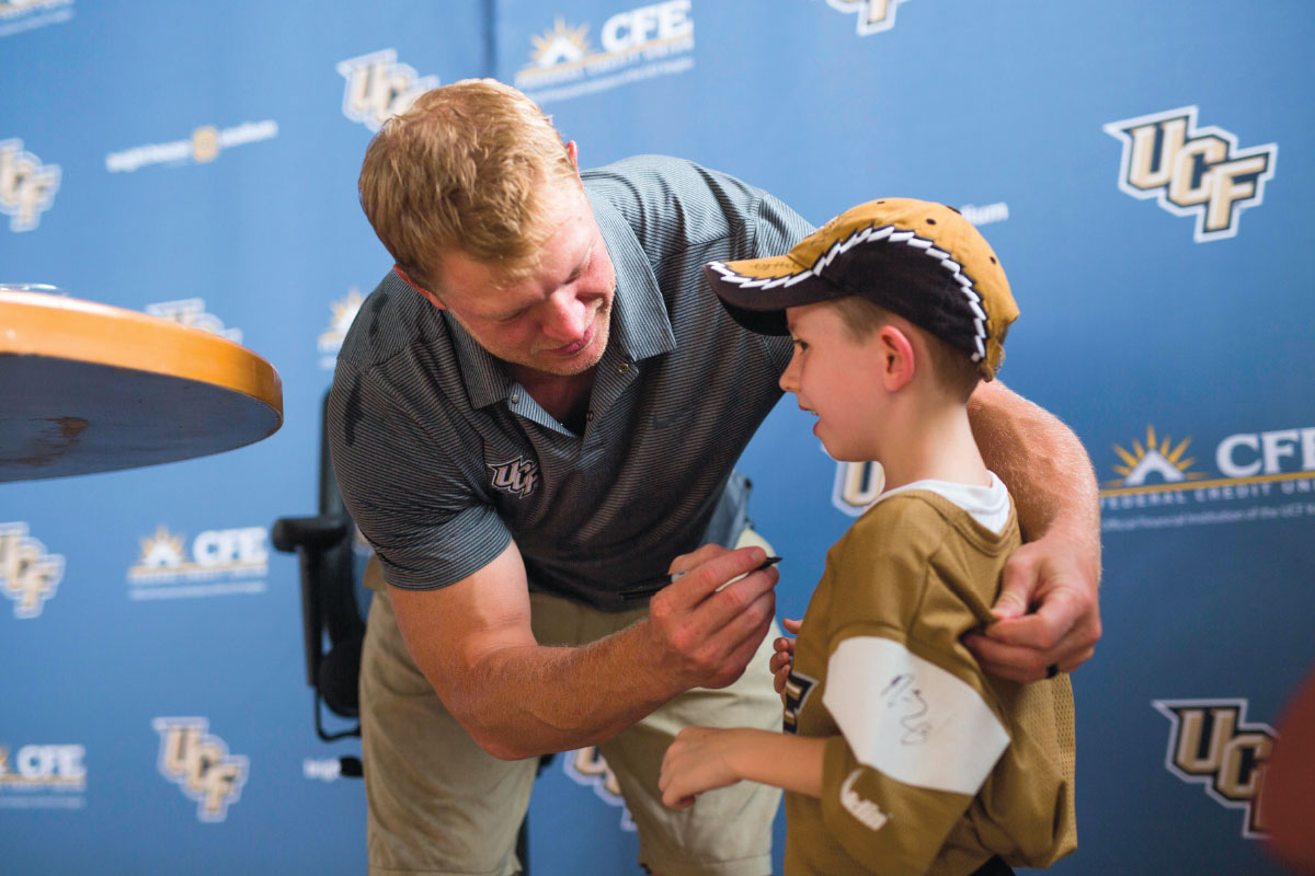 Scott Frost at FanFest