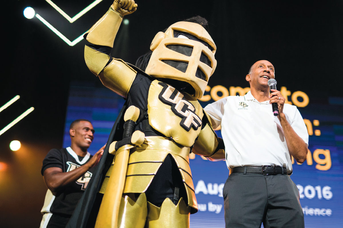 Knightro and Johnny Dawkins