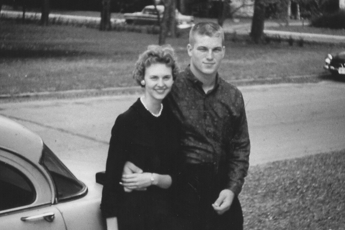 Martha Halsted and John Hitt were married on December 23, 1961.