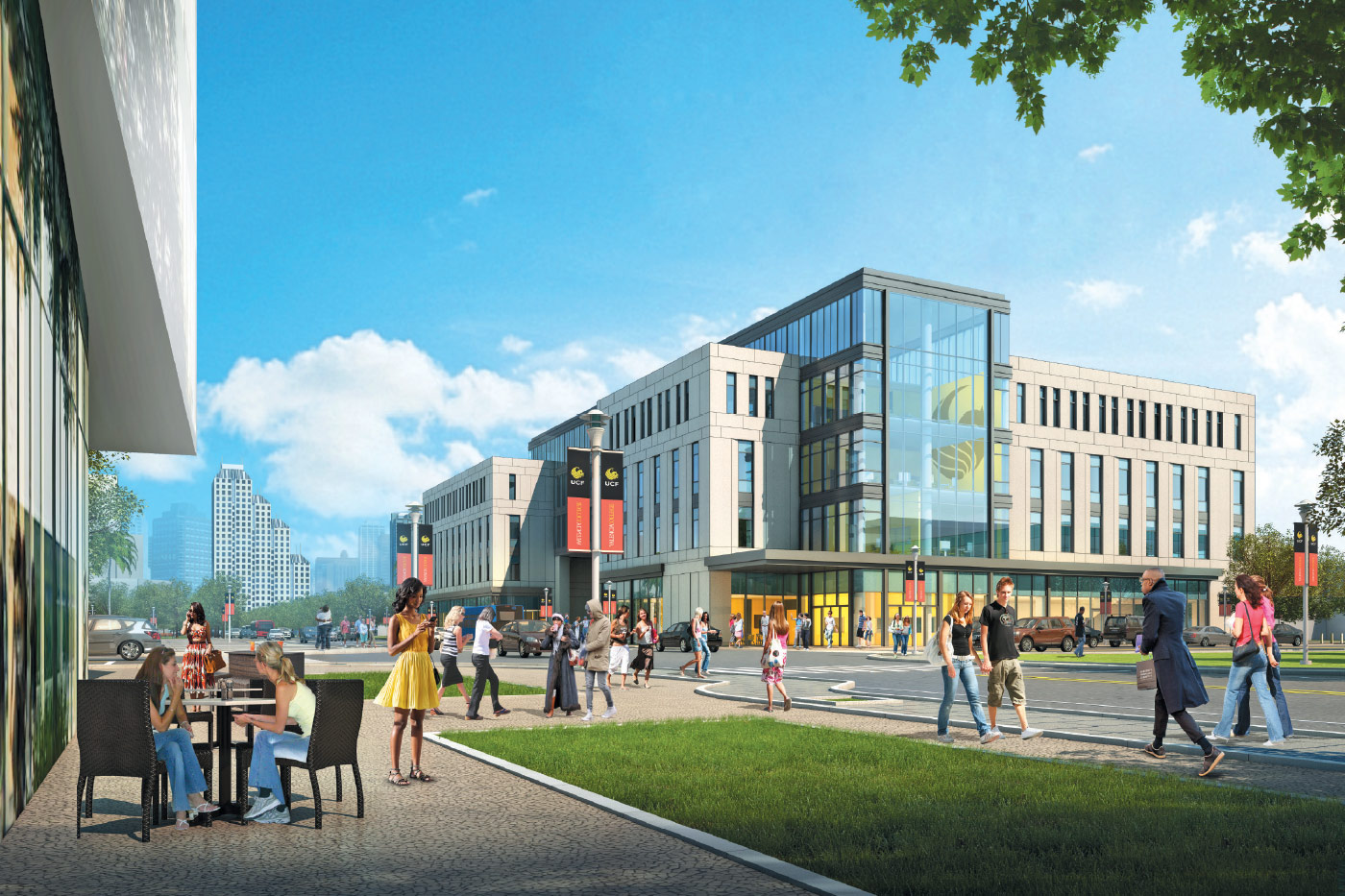 The Dr. Phillips Academic Commons will anchor the UCF Downtown campus with active learning classrooms, collaborative spaces and a library.
