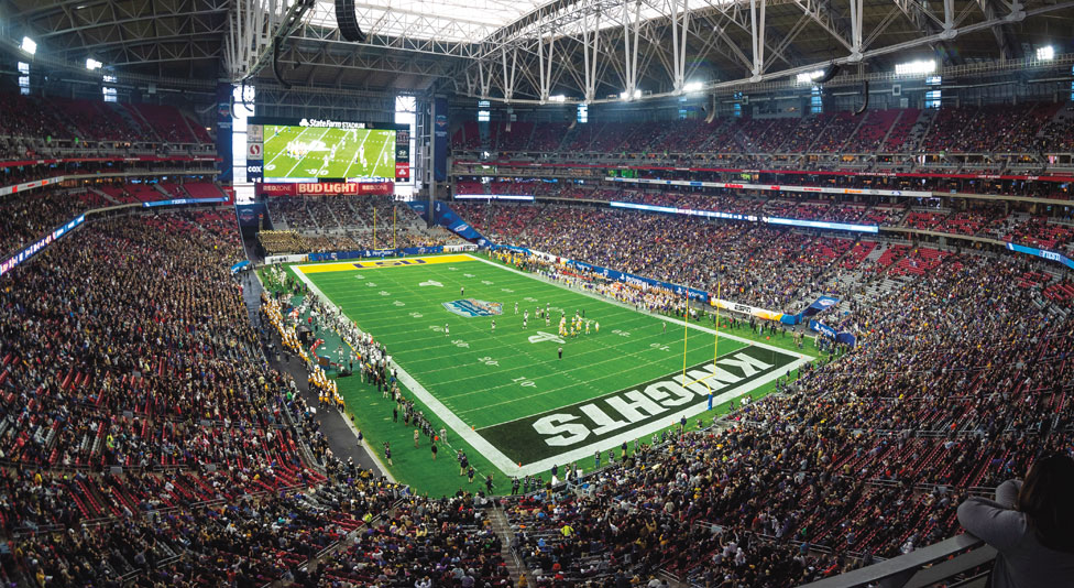 wide angle shot of the inside of fiesta bowl