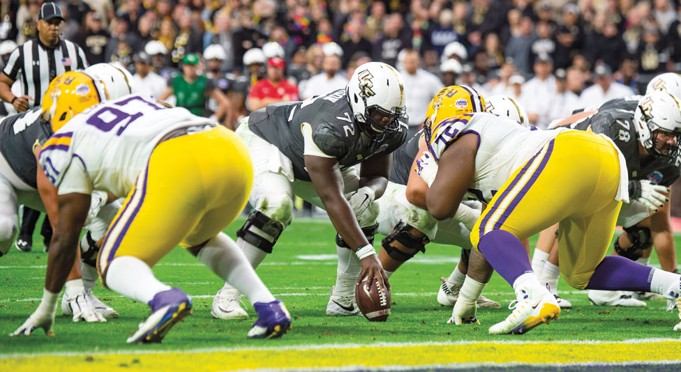 ucf football offense line up against lsu defense