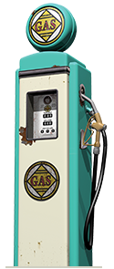 An illustration of an old gas pump