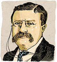 An illustration of former President Theodore Roosevelt