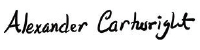 Alexander Cartwright's signature
