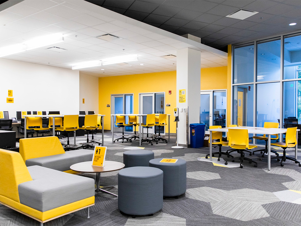 New Seating in the Student Government space of the Student Union