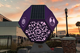 Custom Solar Sculpture Built by UCF Students