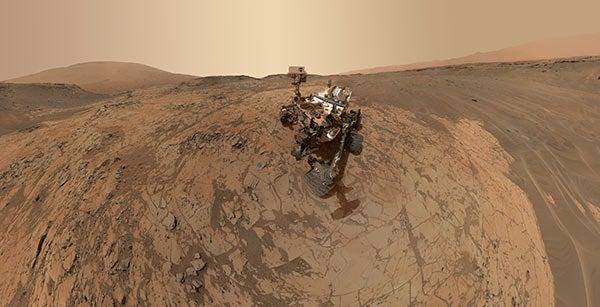 Self-portrait of NASA's Curiosity rover.