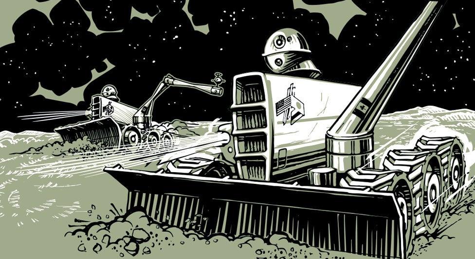 Space robot illustration