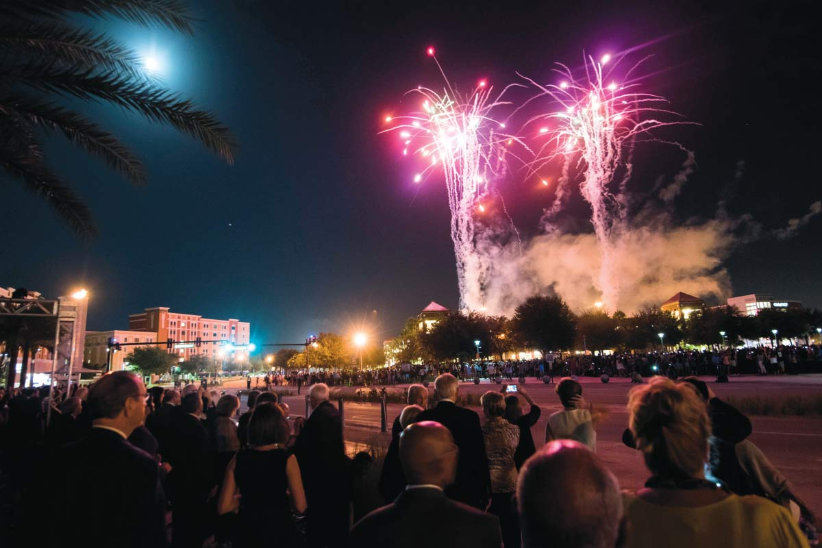 Fireworks on UCF Campus
