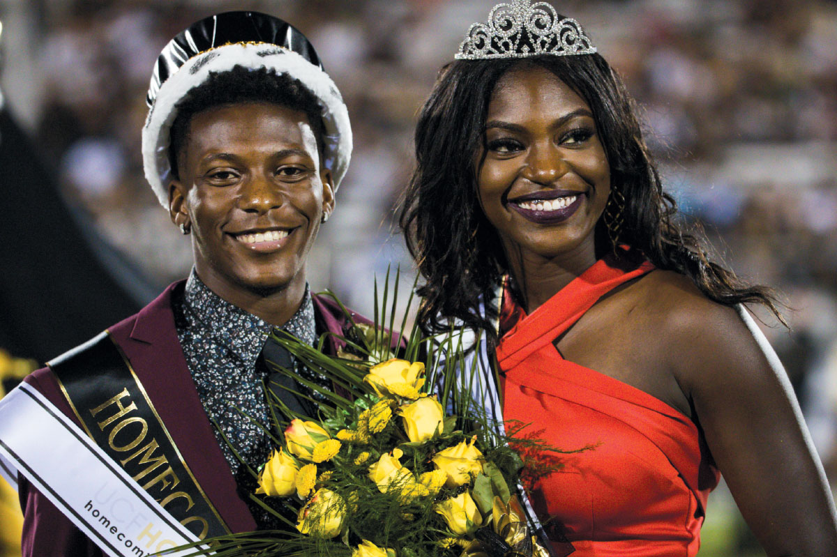 UCF homecoming King and Queen