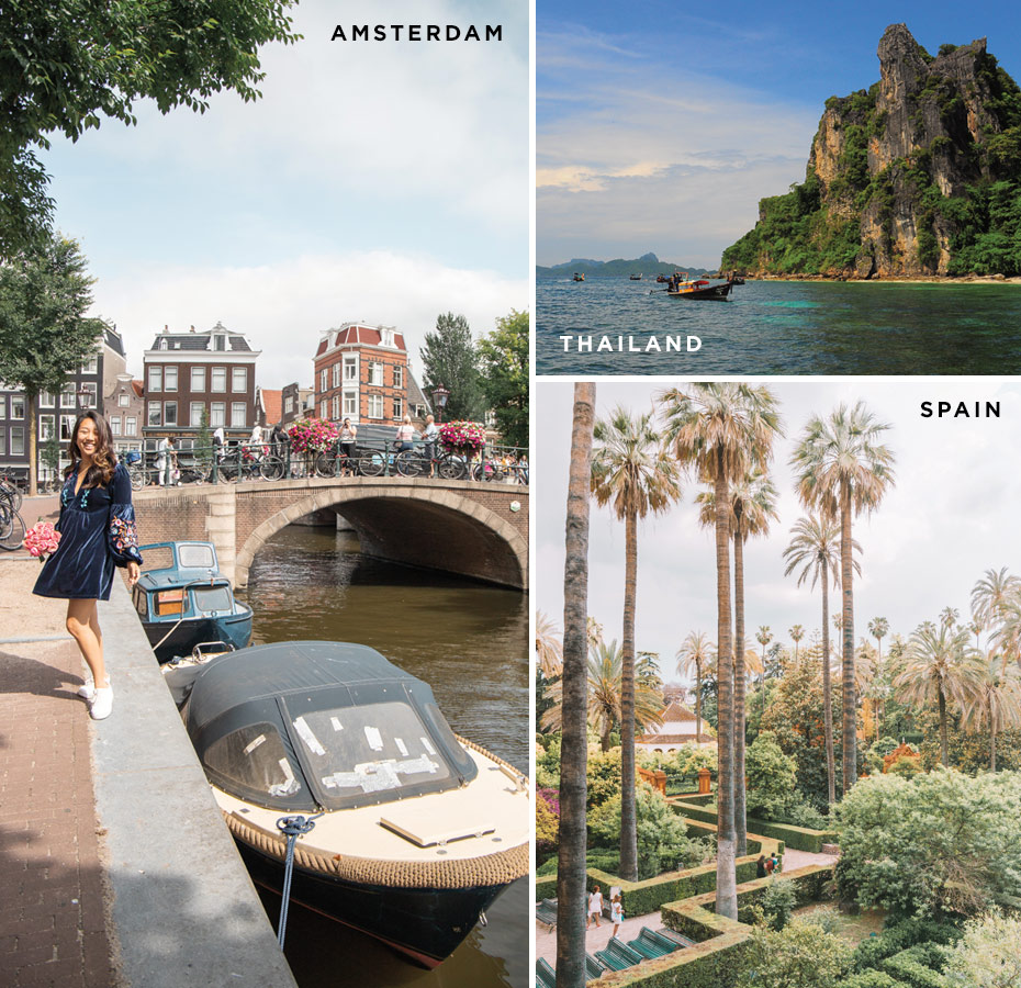 Kim's Postcards from Spain, Thailand, Amsterdam