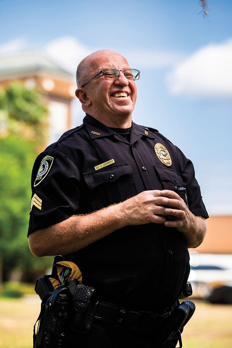 Tony Chronister in police uniform