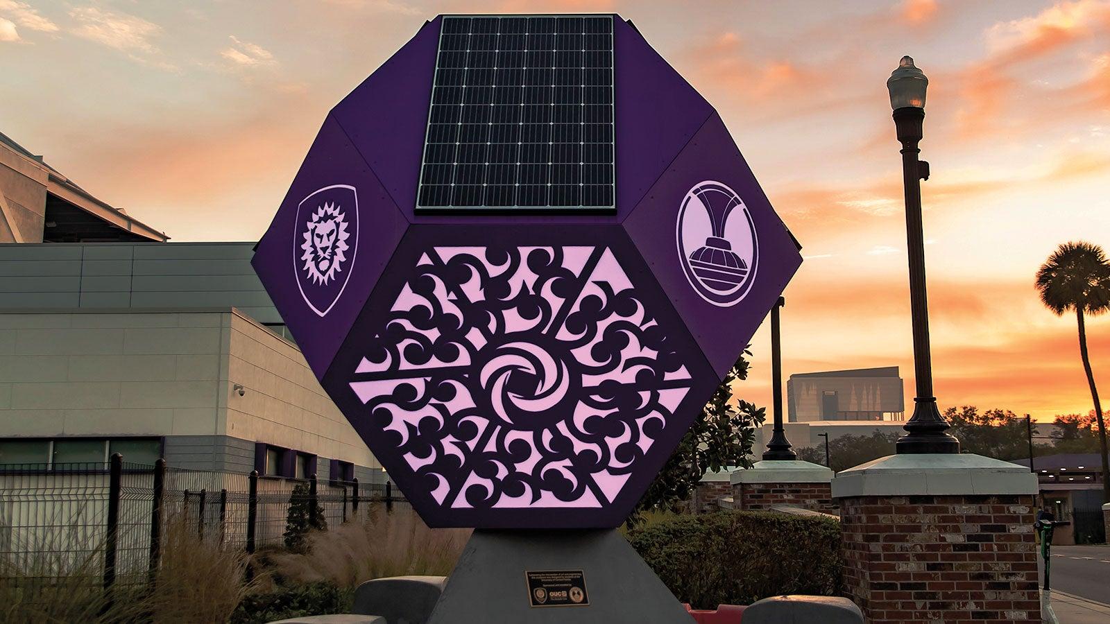 Custom Solar Sculpture Built by UCF Students
