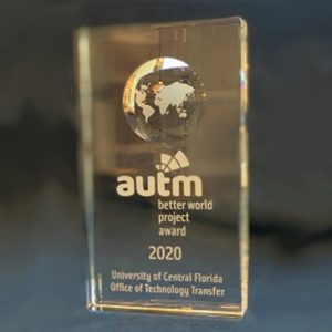 UCF Technology Transfer Office wins the AUTM Better World Project Award 2020