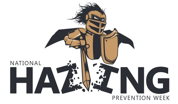 National Hazing Prevention Week image with UCF's Knightro