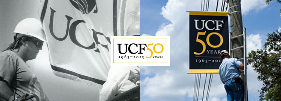 UCF50 Now And Then: Banners