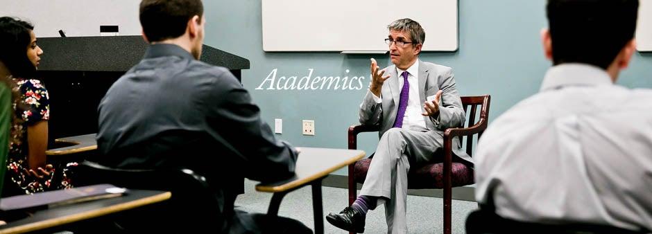 Academics_Dean Jarley in a classroom