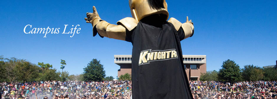Campus Life_Knightro at Spirit Splash
