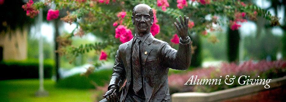 Alumni and Giving Millican Statue