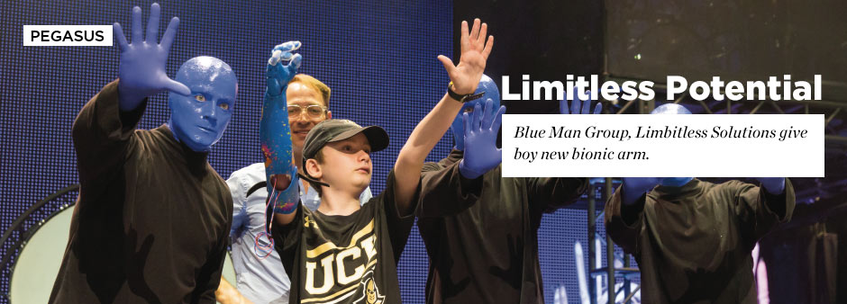 Pegasus Summer 2015: Limitless Potential - Blue Man Group and Limbitless Solutions give boy new bionic arm.