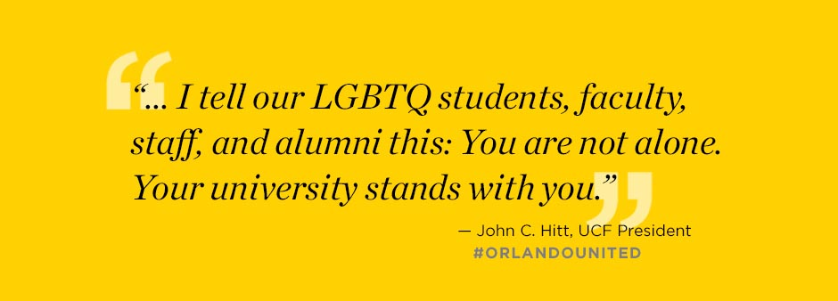 Quote from President John C. Hitt #orlandounited
