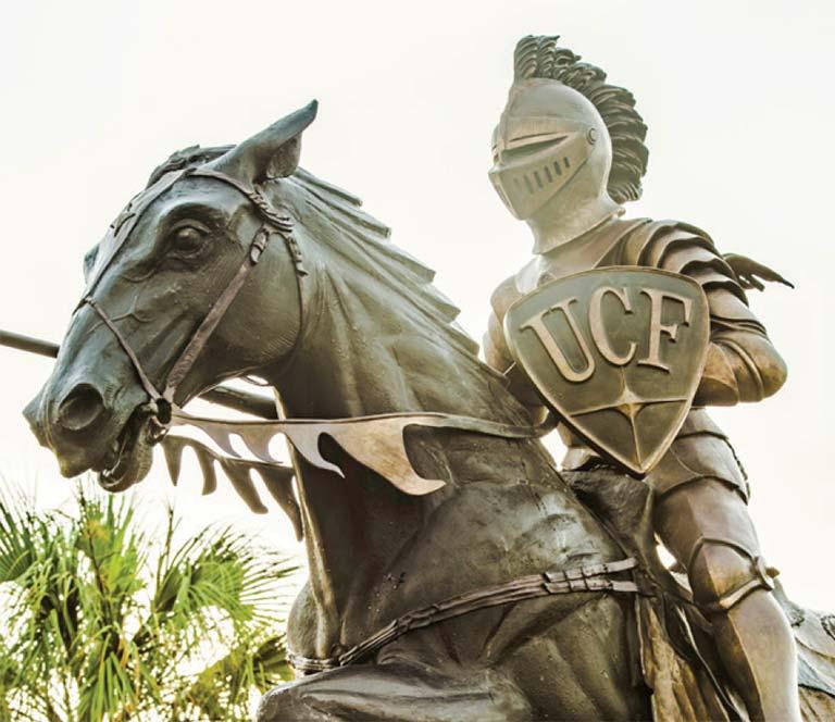 UCF Knight Statue